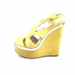 Miu Miu Sandalo con tacco alto giallo
