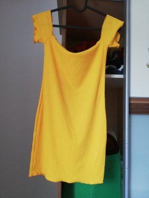 SheIn Vestido strapless amarillo