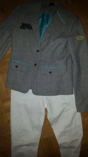 Yes or No Wollblazer tweed meliert Retro Patches Gr.36