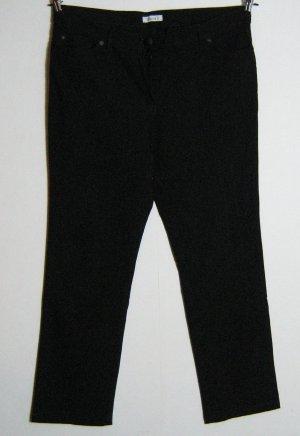 YESSICA 5-Pocket-Jeans Kurzgröße 23 K46 Schwarz Stretch Hose