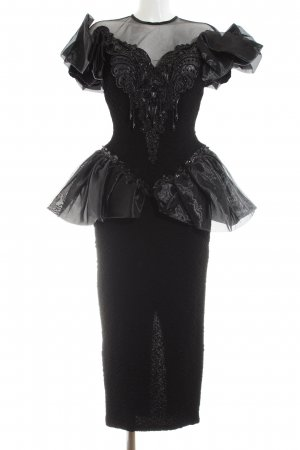 Yessica Ball Dress black extravagant style