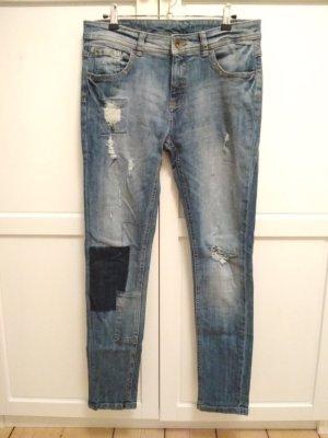 Yessica Boyfriend Jeans Gr. 38 Destroyed-Look Used-Look