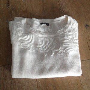 Yessica C&A Pullover Gr. M L 36 weiß wollweiß