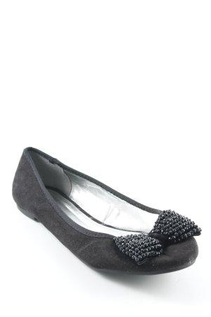 Yessica faltbare Ballerinas schwarz schlichter Stil