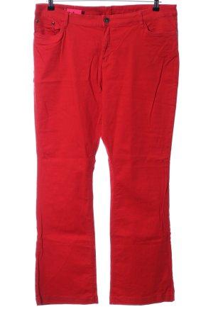 Yessica Pantalón de cinco bolsillos rojo look casual