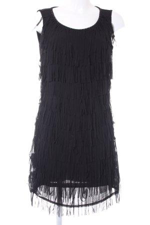 Yessica Jurk met franjes zwart elegant