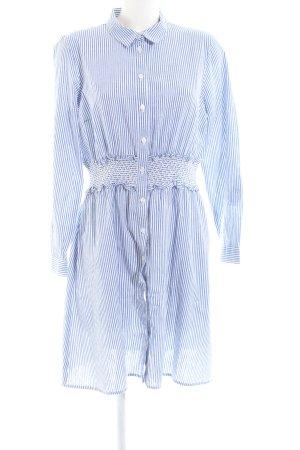 Yessica Hemdblusenkleid weiß-blau Streifenmuster Casual-Look