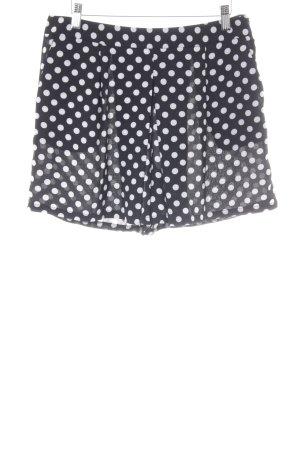 Yessica High-Waist-Shorts schwarz-weiß Punktemuster