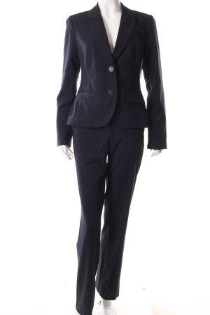 Yessica Hosenanzug dunkelblau-weiß Nadelstreifen Business-Look
