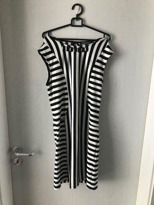 Yessica-Kleid, schwarz-weiß gestreift, Größe S