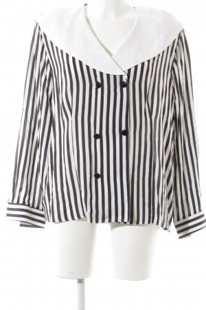 Yessica Langarm-Bluse schwarz-weiß Streifenmuster