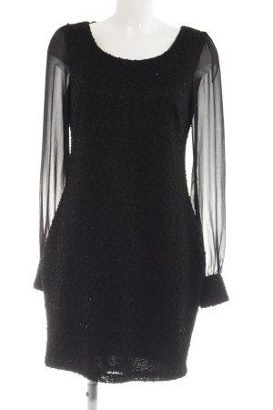 Yessica Langarmkleid schwarz Elegant