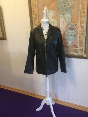 Yessica Blazer en cuir noir