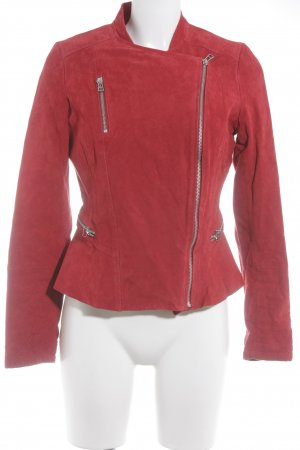 Yessica Lederjacke rot Street-Fashion-Look