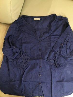 YESSICA leichte Baumwolltunika, Tunika, Gr. 46, dunkelblau, NEU und ungetragen