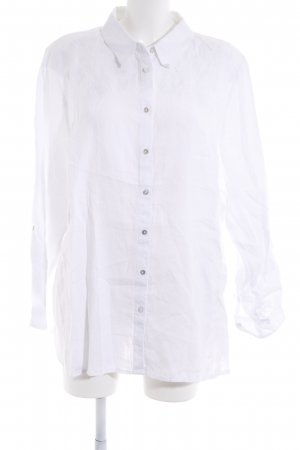 Yessica Blouse en lin blanc style hippie