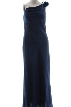 Yessica Vestido largo azul elegante