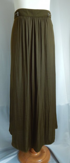 Yessica Maxi Skirt olive green polyester
