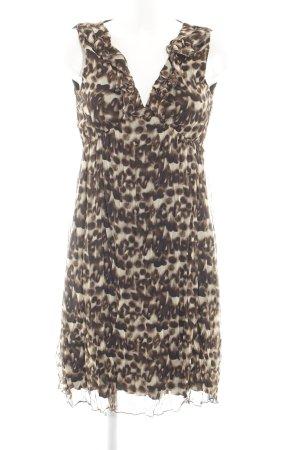 Yessica Minikleid creme-braun abstraktes Muster Casual-Look