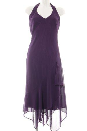 Yessica Vestido de cuello Halter lila elegante