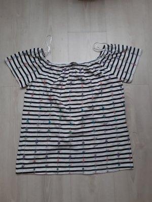 Yessica : NEU Streifenshirt mit Carmenausschnitt Größe S