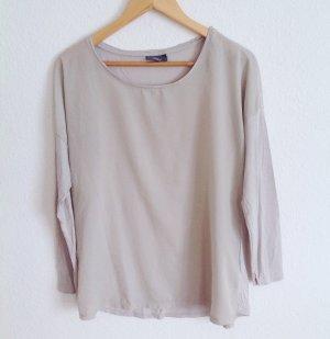 Yessica Pastell Nude Grau Tunika Langarm Shirt Boxy Cosy Oversized M 38 40 Yoga