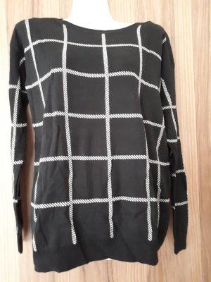 Yessica Pullover schwarz/weiß in Größe S