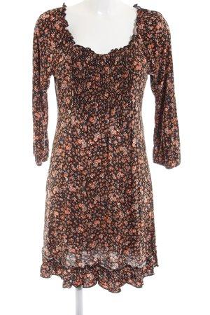 Yessica Off-The-Shoulder Dress brown-light orange flower pattern casual look