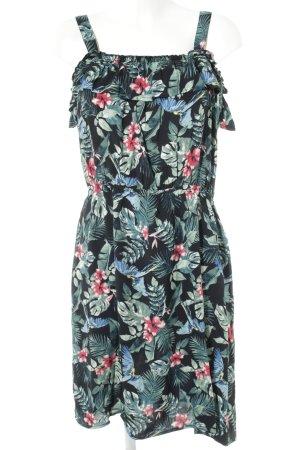 Yessica schulterfreies Kleid florales Muster Casual-Look