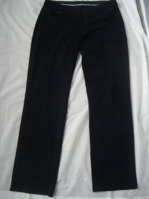 Yessica: Schwarze Bundfaltenhose / Stoffhose / Anzughose (42)