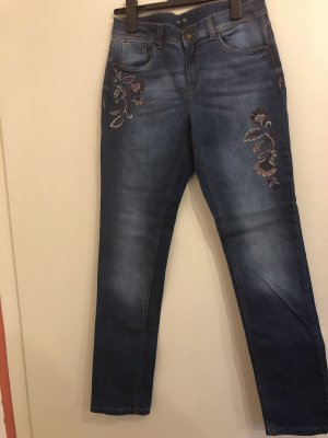 Yessica Jeans taille haute bleu