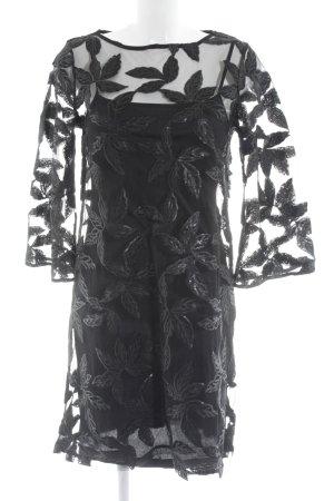 Yessica Spitzenkleid schwarz florales Muster Elegant