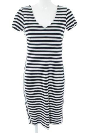 Yessica Strickkleid schwarz-weiß Streifenmuster Casual-Look