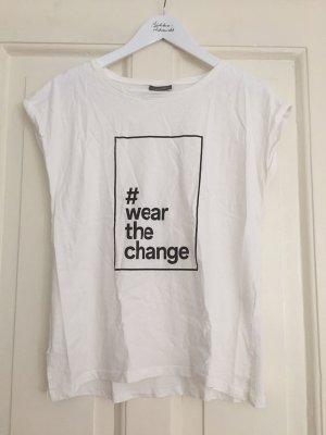 """Yessica T-Shirt aus Bio-Baumwolle """"#wearthechange"""" weiss – S"""
