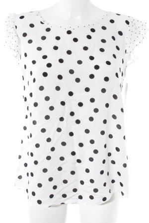 Yessica T-Shirt weiß-schwarz Punktemuster Romantik-Look