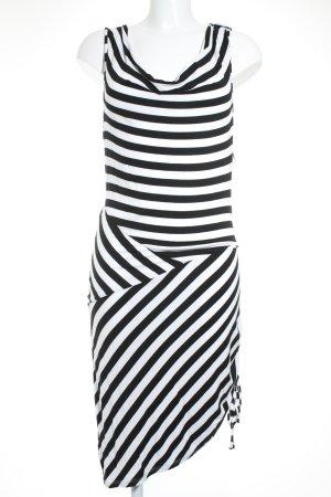 Yessica Trägerkleid weiß-schwarz Streifenmuster Beach-Look
