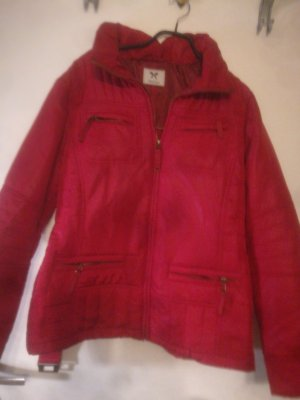 Yessica Outdoor Jacket brick red-white polyester