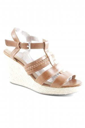 Yessica Wedges Sandaletten cognac Beach-Look