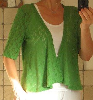 Yest Boléro vert tissu mixte