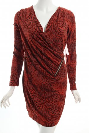 Yest Jerseykleid rostrot-schwarz abstraktes Muster Street-Fashion-Look