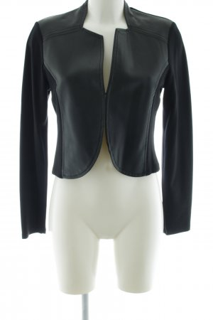 Yest Faux Leather Jacket black casual look