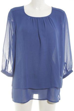 Yest Schlupf-Bluse stahlblau Elegant