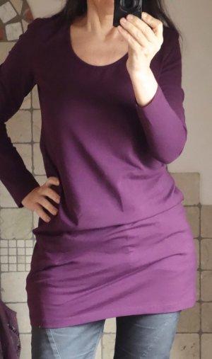 Yest, Shirt, Langarm, Longtop, Längshirt, beere, purpur/violett, Viskose / Elasthane