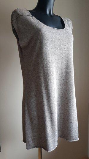 Yest Strick Kleid, XL, Melange, Leinen Mischung, Shirtkleid - neu mit Etikette