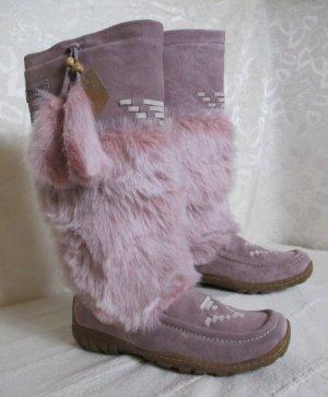 Yeti Fell Mukluk Boots Größe 39 Rosa Winter Stiefel Wildleder