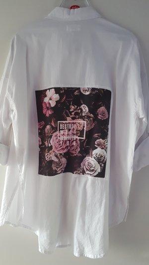 YFL Baumwolle Hemd mit Rückenmotiv und Druckknopfleiste Gr. 38
