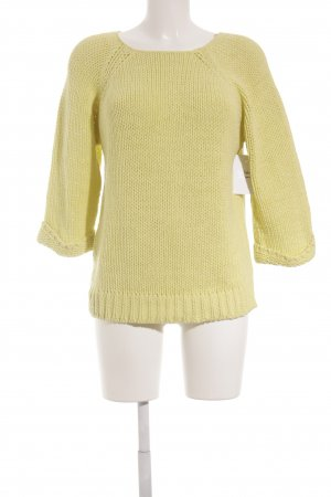 yfl RESERVED Grobstrickpullover limettengelb Casual-Look