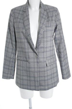 yfl RESERVED Long-Blazer dunkelblau-weiß Nadelstreifen Business-Look