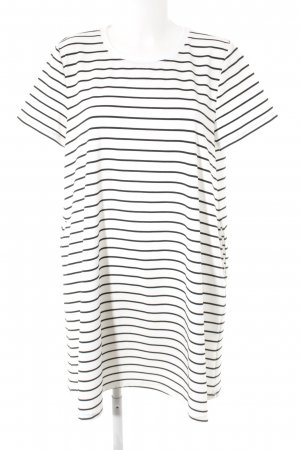 yfl RESERVED Shirt Dress white-black striped pattern casual look