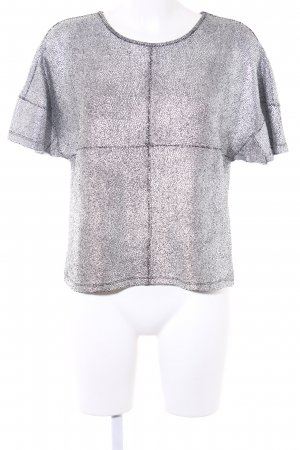 yfl RESERVED Shirt Tunic silver-colored-black metallic look